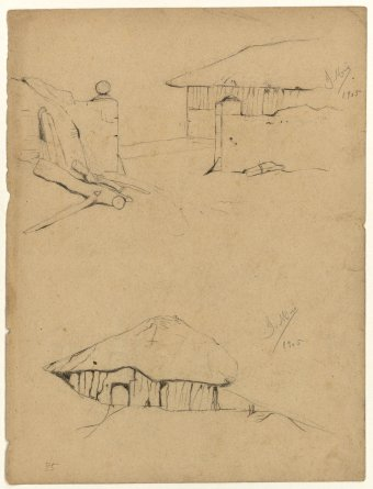 Untitled (House and hut)