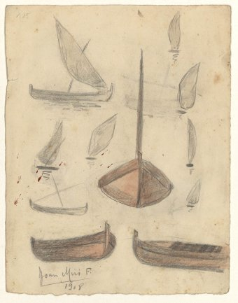 Untitled (Study of small boats)