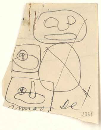 Preliminary drawings for Large figure, 1956 and The sailboat, 1956