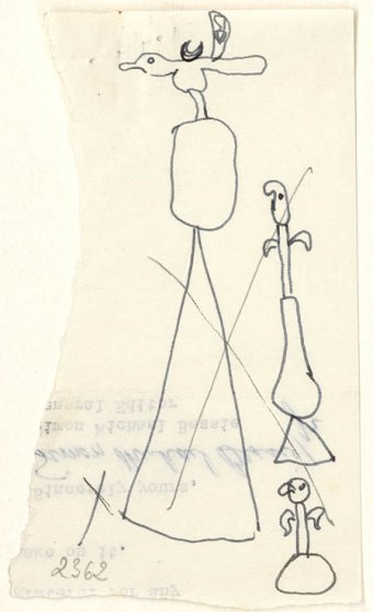 Preliminary drawings for Monument, 1956 and Object, 1956