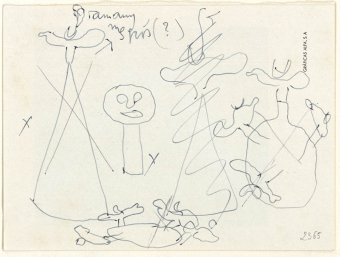 Preliminary drawings for Monument, 1956, Pumpkin with birds, 1956, Pumpkin, 1956 and unidentified project