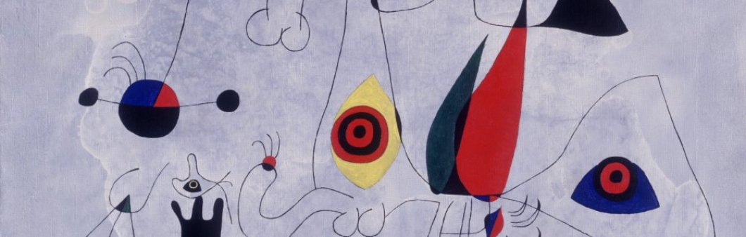 Detail of <em>Woman and birds at sunrise</em>, 1946. Fundació Joan Miró, Barcelona. © Successió Miró, 2020