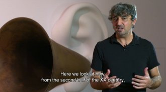 Arnau Horta, curator of the exhibition 'Sound Art?'