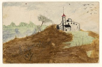 Untitled (Landscape with castle)