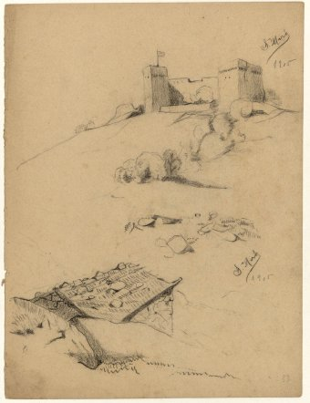 Untitled (Castle and hut)
