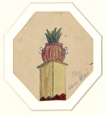 Untitled (Flowerpot on a pilar)