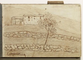Cornudella. Landscape with house