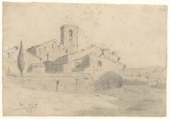 Untitled (Church and houses)