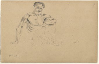 Untitled (Seated nude)