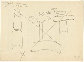 Drawings related to Monument, 1956